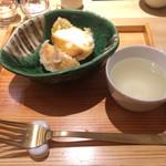 カウンターお野菜天ぷら mego - デザートの、アイス天ぷら