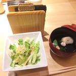 カウンターお野菜天ぷら mego - お吸い物