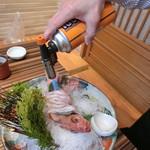 のどぐろ料理と北陸の地酒 せん - 2016' 12/17 『のど黒炙り 刺身』1,880円