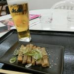 みなと屋 - おつまみメンマ250円、生ビール450円?