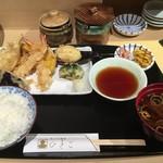 てんぷら食堂 ひさご - ひさご天ぷら定食(大盛り)