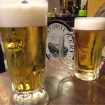 ニューワールド - ビールはエビスかプレモル。エビスの人の方が多かった。