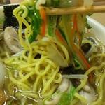 らーめん工房 魚一 - 魚醤ラーメン+牡蠣+こってり+太麺