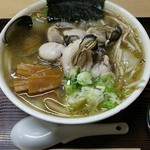 らーめん工房 魚一 - 魚醤ラーメン+牡蠣+こってり+太麺=1540円