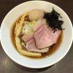麺屋りゅう - 淡麗煮干しそば(煮干し + ホンビノス貝) + 味玉