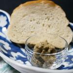 料亭 稲穂 - あけび味噌と塩魚汁フランスパン