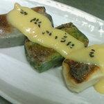 来ル里 - 料理写真:金沢より取り寄せている生麩です。もちもちの食感で人気商品。ゴマ味噌が旨い!
