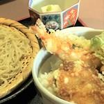 60240529 - サクサク天丼。蕎麦豆腐がいいね