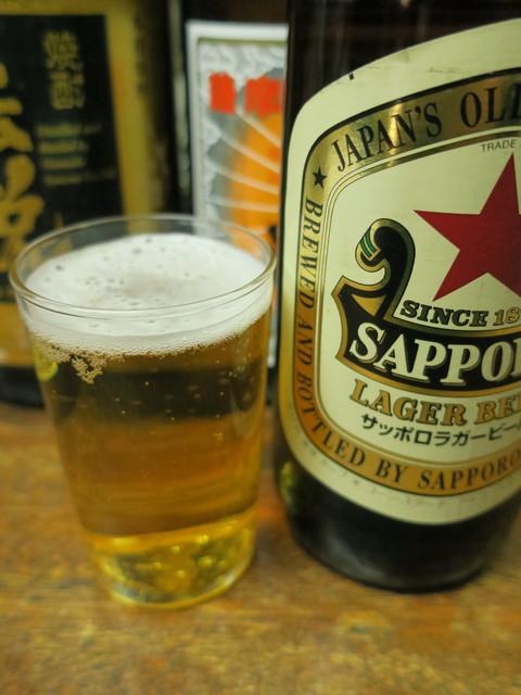 もつ焼きマーちゃん - 瓶ビール