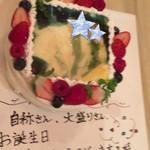60248798 - 写真をプリントした特製ケーキ!