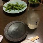 居酒屋 天笑 - おつまみの枝豆です。