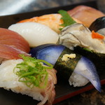 でかねた寿司 - 金沢ランチ1000円!これと天ぷらまで付いてます。