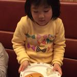 牛角ビュッフェ - お子様パンケーキでパパの絵を描いてくれました(^∇^)