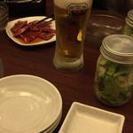 60253103 - カルビにビールにジャーサラダ(^∇^)