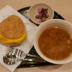 モスバーガー - 朝ライスバーガー朝御膳(たまご 旨だし醤油ソース)420円