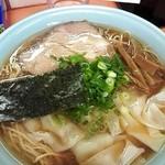 支那そば あおば - ワンタン麺1,000+大盛¥100