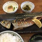 あじろ定置網 - 焼魚定食 さば(大) ¥950