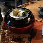 藍花珈琲店 - 特製くずきりの梅の甘煮