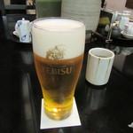 九段一茶庵 - 「生ビール」(2016/12)