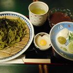 60265162 - 茶そばセット(選べるデザート付) 720円