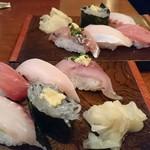 寿司居酒屋 七福 - 本日のにぎり