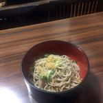 平成庵 - 木の葉セットの冷たい蕎麦
