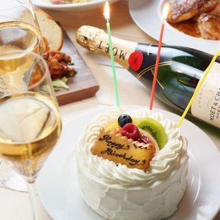 記念日、誕生日をお祝いするアニバーサリーコースも♪