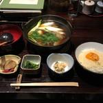 60276158 - きりたんぽ鍋定食 1500円