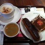 カフェ・ド・クリエ - チョコエクレア/チョコタルト/Espresso/Cappuccino