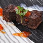 和ビストロ サグラ - ガトーショコラ 季節のフルーツソース