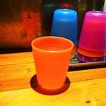 カレー屋バンバン - 水のコップが可愛い