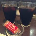 珈蔵 - アイスコーヒー&ロータスビスケット☆。.:*・゜