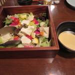 浦和酒店 楽多 らった - お豆腐とサラダ
