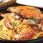 コンシールカフェ・サクラガオカ - 渡り蟹のトマトクリームスパゲッティー