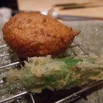 粋魚 むらばやし - 天ぷらの〆はしし唐とさつま揚げ?