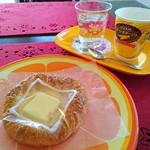 ハウビングベーカリー - 料理写真:チーズデニッシュとコーンスープ