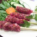 ベトナム料理専門店 サイゴン キムタン - 牛肉のレモングラス巻きグリル