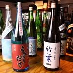 ◆四季折々の日本酒が勢揃い◆旬の日本酒をお楽しみください