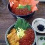 北のグルメ亭 - 鮭いくら丼+ミニうにいくら丼