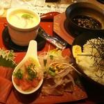 回転寿司 すし丸 - 漬けマグロ豪快ランチ丼セット 税抜700円(2016.12.21)