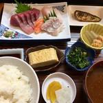 びんび - 刺身定食(750円)(2016.12.現在)
