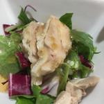 Shisenhanten - デフォの蒸し鶏のサラダ(^^)