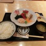 魚市場食堂 - 刺身定食