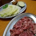 食道園 - 料理写真:塩タン(1,000円)と焼き野菜(400円)