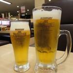 スシロー  - 生ビール ジョッキ 480円(税別) グラス 350円(税別)