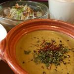 香辛喫茶 Lion Curry - 海老のマイルドグリーンカレー