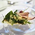 ウシマル - 地野菜のサラダ 大豆のソース