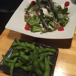 60326624 - 枝豆、サラダ