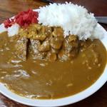 食事処 三平 - ハンバーグカレー(650円)です。2016年10月