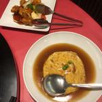 中国料理 龍鱗 - 酢豚と天津飯